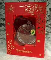WATERFORD 2017 OUR FIRST CHRISTMAS Ornament NEW in Box Crystal  Swans #40023149