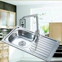 Kitchen Sink Topmount Single  Bowl Reversible Drainer Stainless Steel New