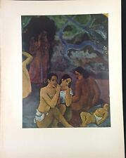 """1954 Vintage Full Color Art Plate """"WHERE DO WE COME FROM"""" DETAIL 3 GAUGUIN Litho"""