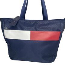 Tommy Hilfiger Tote Bag Shopper Handbag Flag Color Block TH Logo Blue NWT $128