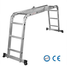 GreenWise® Aluminum Folding Scaffold Work Ladder 11.5 ft