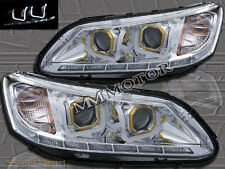 FOR 2013-2014 HONDA ACCORD 4DR SEDAN LED U-BAR HALO PROJECTOR HEADLIGHTS CHROME