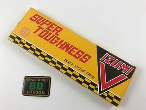 """IZUMI V-CHAIN SUPER TOUGHNESS Japan 1/8"""" 116L Bicycle CHAIN TRACK FIXED NJS"""