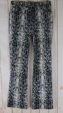 XOXO Pant Jeans 7/8 Juniors Black White Gray Snake Print Cotton Spandex Stretch