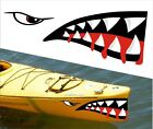 SHARK TEETH MOUTH DECAL STICKERS KAYAK CANOE JET SKI HOBIE DAGGER OCEAN boat 7