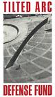 RICHARD SERRA Tilted Arc Defense Fund 39.25 x 22.5 Poster 1985 Minimalism Black
