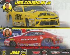 "2017 Erica Enders + Jeg Coughlin, Jr. ""2nd issued"" Chevy Camaro PS NHRA postcard"