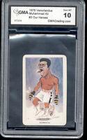 1979  Muhammad Ali Venorlandus Card gem mint 10