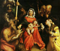 "oil painting  ""mystical marriage of st. catherine of alexandria ""@N12963"