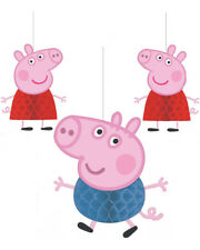 Peppa Pig Party Honeycomb Decorations Pack Of 3 One Size