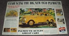 1939 Plymouth Foldout Brochure