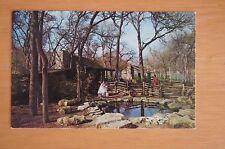 Rare Vintage Photograph Postcard TEXAS LOG CABIN VILLAGE Fort Worth C1970'S