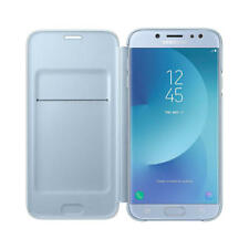Funda azul con tapa para Samsung Galaxy J7