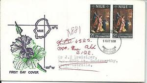 1969 Christmas FDC addressed to Australia Redirected WA to Qld