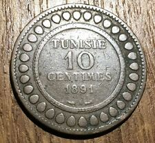 PIECE DE 10 CENTIMES TUNISIE 1891 (109)