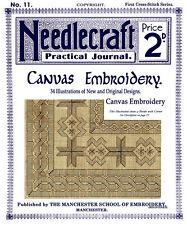 Needlecraft Practical Journal #11 c.1901 Vintage Needlepoint Pattern Book