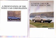 Two 1986 & 90 VOLVO CORPORATE PROMOTIONAL Brochures 200 740 760 780 440 480