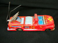 Vintage Made in Japan Tin Friction Fire Truck Parts