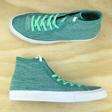 Converse Chuck Taylor All Star Green White Flyknit High Top [156732C] Size 11