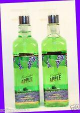 2 Bath & Body Works LAVENDER APPLE Luxury Hand Soap w/ Nourishing Olive Oil