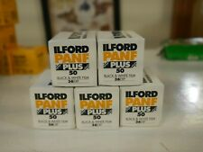 5 rolls Ilford 35mm Pan-F film 36ex outdated 2009 Freepost