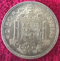 Spanien Espana 2 1/2 Pesetas 1953