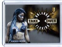 WWE Ember Moon 2018 Topps Road To WrestleMania NXT Mat Relic Card SN 18 of 25
