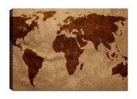 Quadri Moderni Mappamondo Planisfero Stampa Tela Cm 120x70 XXL Ufficio Casa