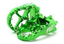 Flo Pro Series Footpegs - GREEN - Kawasaki KX250F 06-on, KX450F 07-on _FPEG-792G