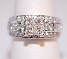 Showstopping 3 TCW diamond Ring in 14K white gold Size 9