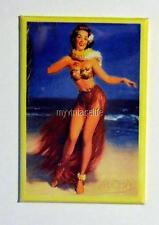 "Vintage SEXY  HULA PIN-UP   2"" x 3"" Fridge MAGNET ART PIN UP HAWAII"