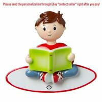 GRANDSON BOY STORY TIME READ BOOK CLUB PERSONALIZED CHRISTMAS TREE ORNAMENT