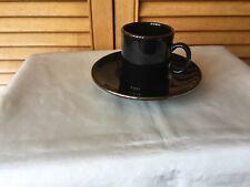 Nescafe Espresso Coffee Cup and Saucer. Black & Gold.