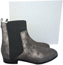 Jimmy Choo Chelsea Anthracite Metallic Shimmer Suede Ankle Bootie 39.5 Boot