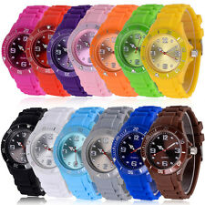 Fashion Kids Boy Girl Silicone Sports Quartz Wrist Watch Children Analog Watch