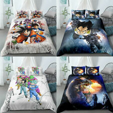 Dragon Ball Z SonGoku Vegeta Quilt Cover Bedding Set 3PCS Duvet Cover Pillowcase