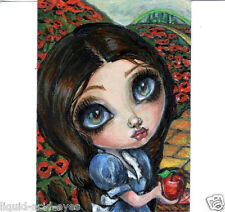 Aceo PRINT Dorothy Wizard of Oz zombie big eyes girl #97 art Liquid Acid Eyes