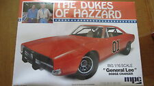 Dukes Of Hazzard General Lee Dodge Charger Big 1/16 Scale Model Kit Sealed MPC