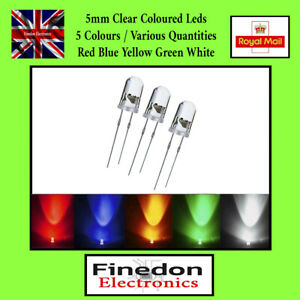 5mm Ultra Bright Water Clear LED Bulb 3V All Colours Light Emitting Diode UK