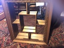 Mid Century Whatnot Shelf W/Mirror Tru-Flect Copper Plated