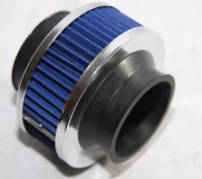 "BLUE 2.75"" Mesh Bypass Valve Pipe Turbo/Cold Cool Air Intake Filter"