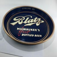 EARLY ADVERTISING BLATZ MILWAUKEE WI BREWERING CO. METAL BEER TRAY NICE GRAPHICS
