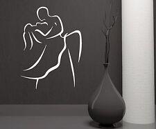 Dance Dancing Couple Passion Beauty Art Wedding Wall Mural Vinyl Sticker (i012)
