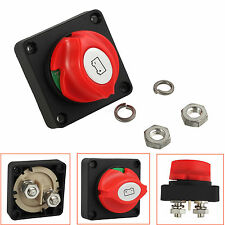 Car Boat Battery Selector Isolator Disconnect Switch RV Marine Rotary Cut On/Off