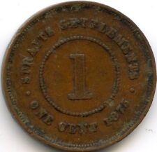 MALAISIE STRAITS SETTLEMENTS VICTORIA ONE CENT 1875 W SOHO KM 9