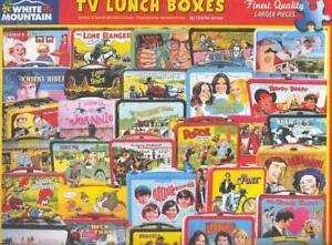 Charlie Girard White Mountain Jigsaw Puzzle TV Lunch Boxes NIB