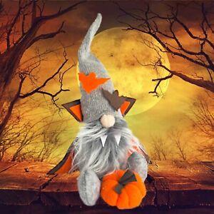 Halloween Gnome Pumpkin Gonk Grey Decoration Funny Decor Felt Ornaments Gift