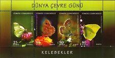 TURKEY 2009, WORLD ENVIRONMENT DAY BUTTERFLIES, S/S MNH