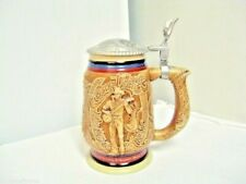 New listing 1994 Avon Made in Brazil Country Western Music Theme Lidded Stein