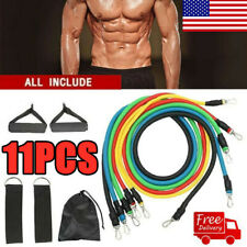 11PCS Resistance Band Set Pull Rope Gym Home Fitness Workout Crossfit Yoga Tube